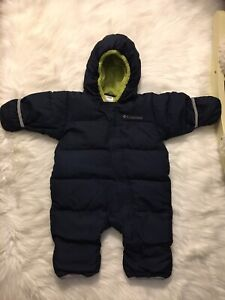 Columbia 12 months baby down snowsuit
