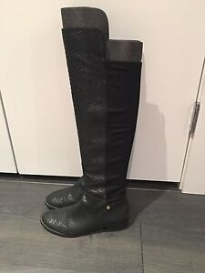 Michael Kors Faux Snake Skin boots