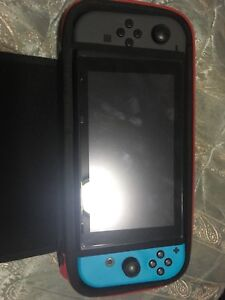 Nintendo Switch w/ 5 games and a case