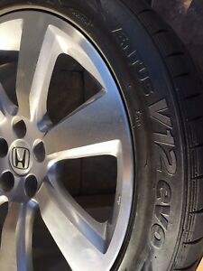 Honda Odyssey summer tire wheels and tires set with TPMS
