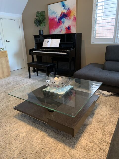 Harvey Norman Quality Wood And Glass Coffee Table With Draws