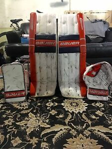 Bauer Reactor Pro Goalie Pads and Gloves