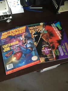 Nintendo power magazines vintage with posters