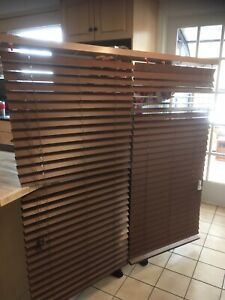 New faux wood blinds