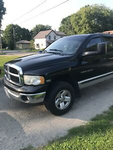 Black Dodge Ram , it has heated mirrors