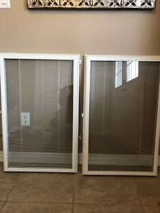 Door insert with internal blinds