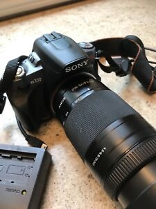 Sony a330 camera ,  lenses and bag