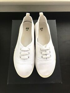 H&M White Canvas Shoes