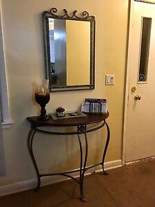 Console Table + Mirror
