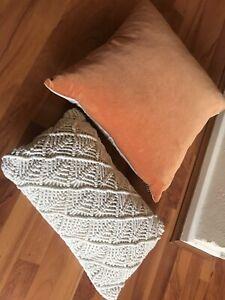 Bambury velvet feather filled cushion