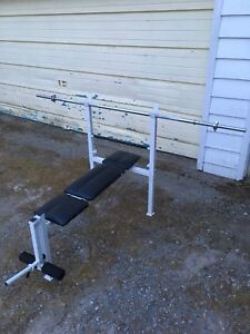 Bench press with bar- no weights