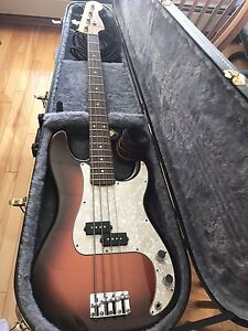 Fender Bass Guitar and Amp - reduced