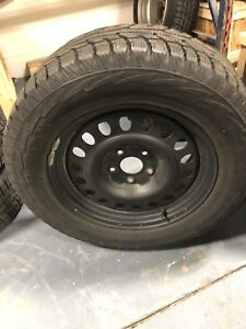 Hankook winter tires on rims 265 /60 R18