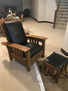 High-end Stickley Mission Chair & Footstool