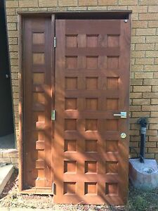 Timber entrance door and frame Loganholme Logan Area Preview