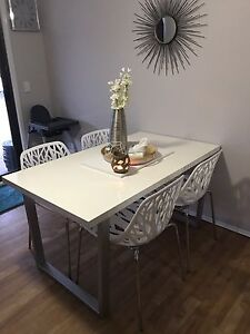 4 seater white dinning setting Carrara Gold Coast City Preview