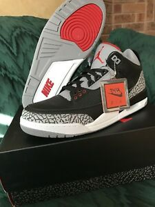 Jordan Black cement 3 DS size 10