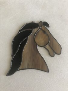 Hand-crafted stained glass - horse