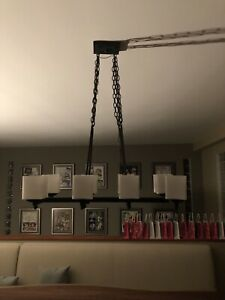 8 Light Iron Chandelier