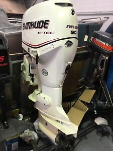 Evinrude 90 hp Etec 2 stroke extra long shaft outboard
