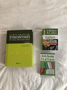 Dictionnaire synonymes/ dictionnaire italien