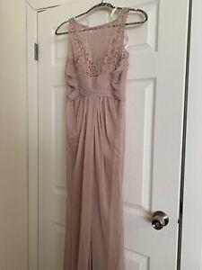 David's Bridal Bridesmaid Dress - Size 2 (QUARTZ)