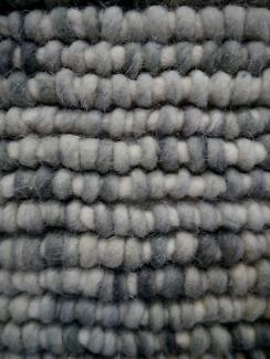 New Loft Ice Grey Textured Hand Woven Felted NZ Wool Rugs