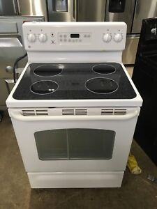 GE glass top stove 2 years old