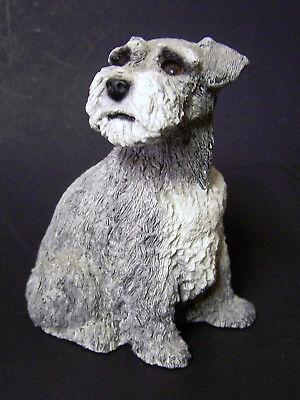 """Whiskers Martha Carey 1985 Schnauzer Dog #2508 5"""" Art Figurine Sculpture EXC++"""