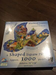 Bluebird Country - Shaped Jigsaw Puzzle - 1,000 pieces
