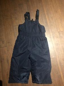 2T Navy Bibbed Snow Pants