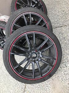 BRAND NEW! Tires and rims 225/40ZR18