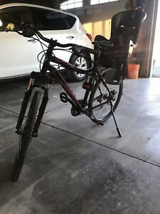 Specialized myca mountain bike with child carrier