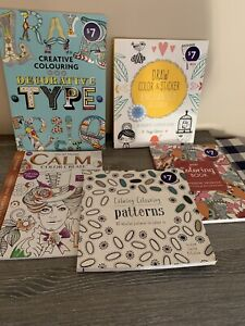 5 Adult Colouring Books