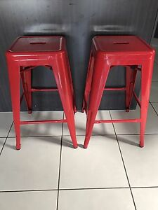 2 x Red Bar Stools Kearneys Spring Toowoomba City Preview