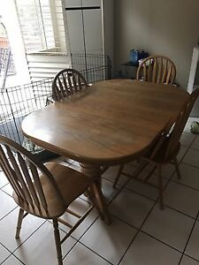 Wood Dinner Table Set for Sale
