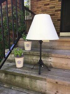 Table lamp - iron base. Excellent condition