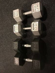 60 and 70 Pound Dumbbells