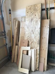Assorted Wood and Drywall