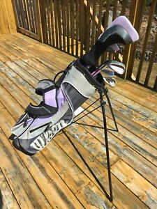 Wilson - girls left handed golf clubs