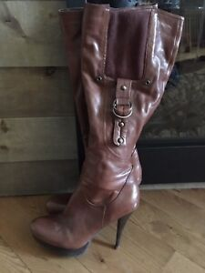 Guess leather boots size 8.5