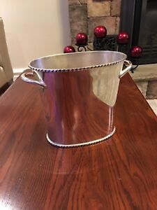 Pottery Barn Silver Plate Wine Cooler