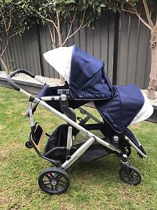 Uppababy Vista double pram - 2016 like new Lara Outer Geelong Preview