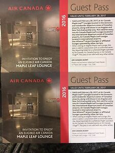Airport Lounge Free Access - Air Canada Maple leaf Lounge Passes