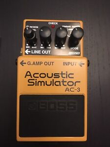 Boss AC-3, AC3 acoustic simulator pedal