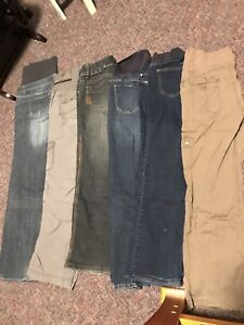 Maternity Jeans and Pants - 6 pairs medium