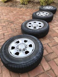 Toyota Hilux Rims + Tyres + Nuts!! Bargain!!