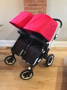 Excellent condition bugaboo donkey duo twin double stroller