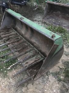 7 foot John Deere bucket and bale spear quick attach