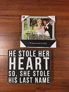 5x7 picture frame and quote sign